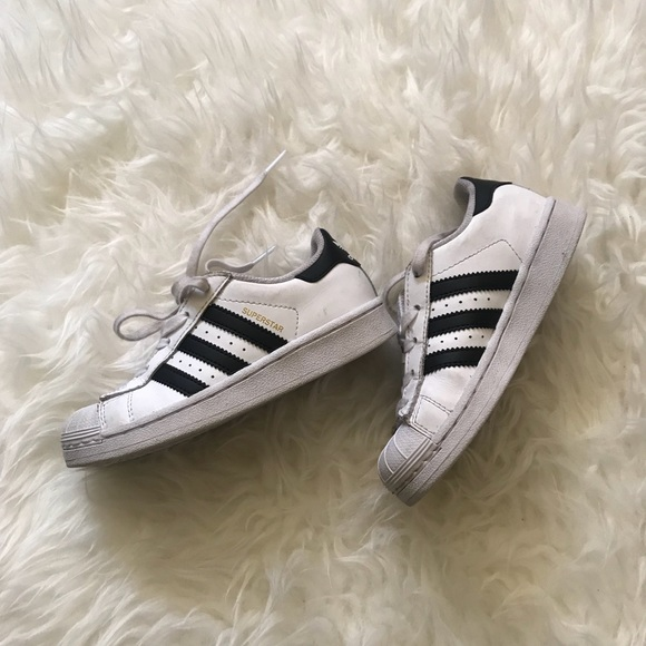 a23db93b8b3920 adidas Other - ADIDAS Little Kids Superstar Sneakers Shoes Sz 12